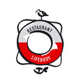 simple retro-style lifebuoy vector image