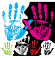 Skull hands design vector image