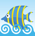 sweet and funny fish vector image vector image
