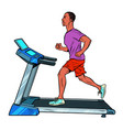 treadmill sports equipment for training fitness vector image vector image