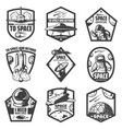 vintage monochrome space labels set vector image vector image