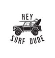 Vintage surf logo print design for t-shirt and