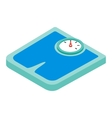 Weighing machine isometric 3d Icon vector image vector image