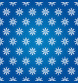 winter seamless pattern from snowflakes vector image