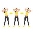 young pretty woman make side bend exercise vector image vector image