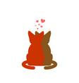cat lovers embrace pet lover cuddle romantic date vector image
