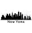 new york usa city skyline black and white vector image