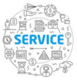 serviceslinear slide for the vector image