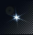 star flare on transparent background vector image