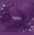 abstract geometric dark purple polygonal vector image vector image