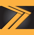 abstract yellow arrow speed direction on dark grey vector image vector image