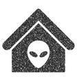 Alien Home Grainy Texture Icon vector image vector image