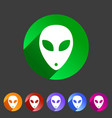alien icon icon flat web sign symbol logo label vector image
