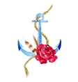 Anchor with flowers vector image vector image
