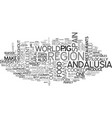 andalucia text word cloud concept vector image vector image