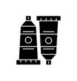 art paint tubes black concept icon art vector image
