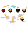asian chinese japanese noodle cooking vector image