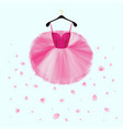ballet tutu dress vector image