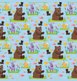 bear character teddy pose seamless pattern vector image