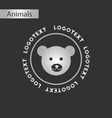 black and white style icon bear logo vector image