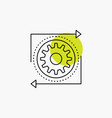 business gear management operation process line vector image