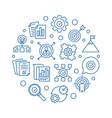 business goals circular in vector image vector image