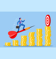 businessman aim arrow to target vector image vector image