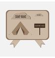 Camping adventure badge graphic design logo emblem vector image vector image