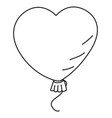cartoon image of heart balloon vector image