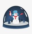 cartoon snowman souvenir toy vector image