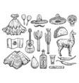 cinco de mayo isolated mexican holiday symbols vector image