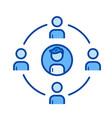 community line icon vector image vector image