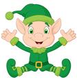 Cute gnome cartoon vector image