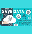 data security banner of information protection vector image vector image