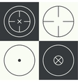 different types of crosshair vector image