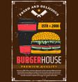fast food hamburger and coffee vector image vector image