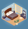 fragment of interior with isometric furniture se vector image vector image