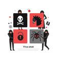 hackers puzzle vector image vector image