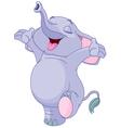 Happy Baby Elephant vector image vector image