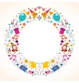 Happy Birthday circle frame border design vector image vector image