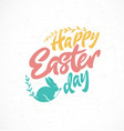 happy easter day greeting card design element vector image