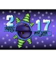 happy new year 2017 and bowling ball vector image vector image
