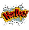 hot dog word comic book pop art vector image vector image