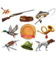 Hunting set shotgun dog duck fishing horn hat