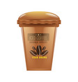 iced coffee cup mock up realistic vector image