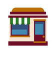 icon of the facade of the cafe with a white green vector image vector image