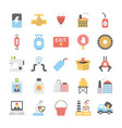 icons pack of industrial and construction vector image