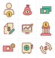 Icons Style Icons Style Finance icon set vector image vector image
