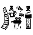 items for shooting movies vector image vector image