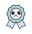 kawaii cute angry medal prize vector image vector image